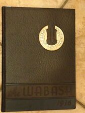THE WABASH COLLEGE CRAWFORDSVILLE INDIANA YEARBOOK 1936 OLD VINTAGE  SCHOOL FIND
