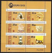 Portugal 1983 MNH Mi Block  39 (1595-1600) Sc 1567-1572a European Heritage **