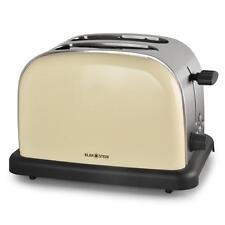 Retro Toaster Toastautomat 2 Scheiben Vintage Auftaufunktion 50 Jahre 100W Creme