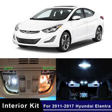 9x White LED Map Dome Lights Interior Package Kit For 2011-2017 Hyundai Elantra