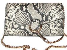 VINCE CAMUTO Sassy Snake Leather Clutch Purse  Shoulder bag NWT