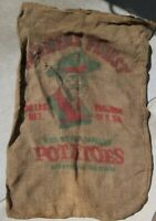Vintage 100lb Red River Valley Potatoes Burlap Sack - Farmers Finest