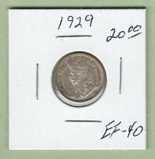 1929 Canadian 10 Cents Silver Coin - EF-40