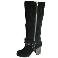 Block Knee High Solid Women's Boots