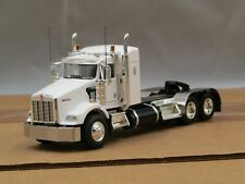 "Dcp Custom white Kenworth T800 38""sleeper tractor 1/64"