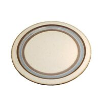 "Otagiri HORIZON MCM 12.5"" SERVING PLATTER Round Stoneware Plate Blue Brown"