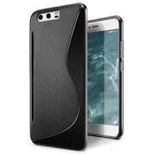Pour Huawei P10 Lite Coque en Gel Silicone S-line S-Ligne noir