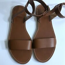 Madewell Brown Broadwalk Ankle Strap Sandals Size 9.5