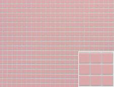 "Dollhouse Miniatures 1:12 Scale Tile Floor 1/4"" Squares Pink FF60630"
