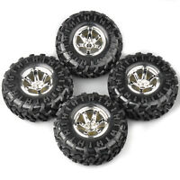 4Pcs Climbing Crawler Rubber Tires&Wheel Rims For RC 1:10 Bigfoot Monster Truck