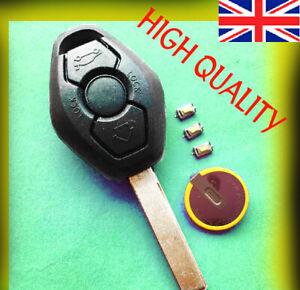 BMW 3 BUTTON Diamond Remote Key Fob Case E46 3 5 7 Z3 FULL REPAIR KIT + Battery
