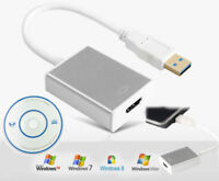 USB3.0 to HDMI Converter Cable Display Graphic Adapter HD1080P for PC HDTV LCDRA