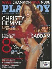 Christy Hemme Signed April 2005 Playboy Magazine PSA/DNA COA TNA WWE Diva Auto'd