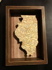 Illinois State Shape Box Sign Primitives by Kathy