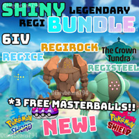 🔥SHINY REGIROCK REGISTEEL & REGICE🔥6IV AVAILABLE NOW🔥Pokemon Sword & Shield🔥