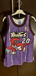 Damon Stoudamire Toronto Raptors #20 Rare Authentic Gold Logo NBA jersey sz S/36