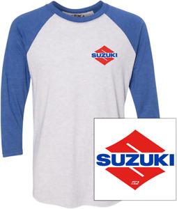 Factory Effex Baseball T-Shirts L Suzuki White/Royal