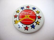 Vintage Sammlerstück Pin Knopf : Coca Cola Star Design Wanduhr