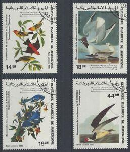 Mauretanien, 1985, gest., Vögel, MiNr. 852-855