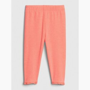 Gap Kids Girls Cropped Pants Neon Orange Size 5
