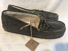 NWT AMERICAN EAGLE SUEDE SHEARLING MOCCASIN SLIPPERS women 10