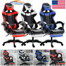 Ergonomic Chair Gaming Racing W/Footrest Computer High Back Office/Recliner Seat