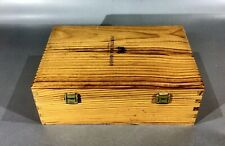 Fortnum & Mason Double Compartment Fabric Lined Wooden Gift Box