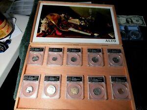 2017-S Full Set ANACS EU70 225th Anniv. ENHANCED / 10 BU Coins / Nice Gift Box
