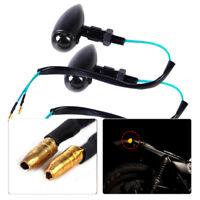 2pcs Bullet Turn Signals Light Blinker Indicator fit Harley Honda Suzuki Bobber