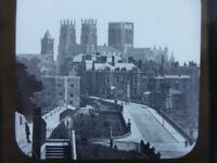 Magic Glass Lantern Slide York Minister from city wall