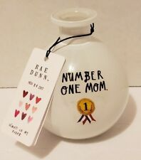 "NEW Rae Dunn #1 MOM 4.25"" Vase Bottle Mother's Day Gift Nov 24 2017"