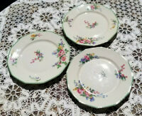 3 Finest French Ivory China Vintage Ch Field Haviland Limoges France Plates 1960