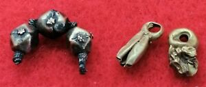 3 Gold Roman As Found Pendants