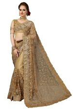 Sari Indian Ethnic Designer Net Embroidery Saree for Wedding Party wear (K770)