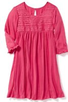 NWT Old Navy Lace Trim Crinkle Jersey Dress Size L 10-12 Ki Girl Thanksgiving