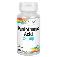 Solaray Pantothenic Acid 250mg, Vitamin B-5, 100ct