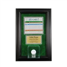 Wall Mount Golf Ball Display Case Scorecard Frame and Plaque w/Free Shipping