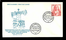 (Ref-4698) Germany 1957 Paul Gerhardt  First Day Cover SG.1179