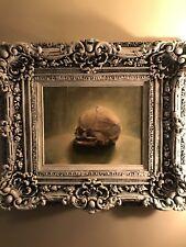 Original Fetal Skull Oil Painting By Mike Ragard In Custom Ornate Gothic Frame