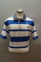 NWT Men's Ecko Unltd. Stripe Polo Shirt Size S,L,2XL WhtBlu 03453