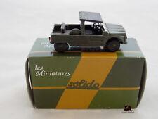 Miniature Collection Métal Tank SOLIDO Voiture Citroën MEHARI Armée France