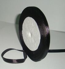 "Free shipping 1/4""25yds Black Satin Ribbon Wedding Party Bow Craft Supply"