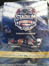 2014 STADIUM SERIES NEW YORK DEVILS ISLANDERS RANGERS OFFICIAL PROGRAM RARE