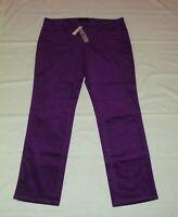 NEW $89 TALBOTS Signature ~ Purple Velveteen 5-Pocket Pants Sz 12P,12 Petite