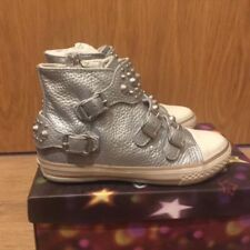 ASH FROG Trainers Silver Leather & Studs Hi-tops uk 10, 11, 12 RRP £ 119