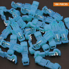100 T-Taps Insulated Wire Terminal Connectors Combo Set 14-16 10-12 18-22 Blue