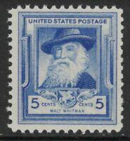 Scott#: 867 - Famous Americans-Poets: Walt Whitman Single Stamp MNH OG