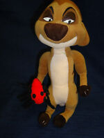 "Disney TIMON from THE LION KING 11"" plush holding ladybug"
