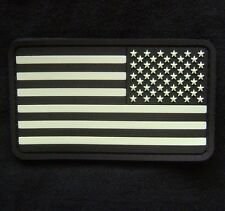 US FLAG PVC GITD TACTICAL ARMY MORALE REVERSE SWAT VELCRO® BRAND FASTENER PATCH