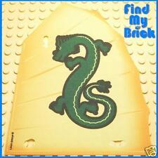 F260D LEGO Sail Junk with Green Oriental Dragon Pattern